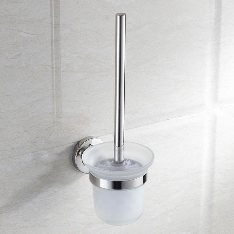 Toilet Brush Holder - Chrome Brass (6408)