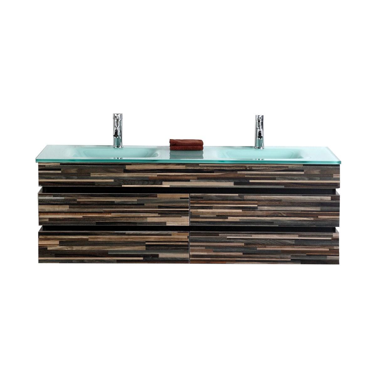 55 In. Wall Mount Bathroom Vanity (VS-8861-V)