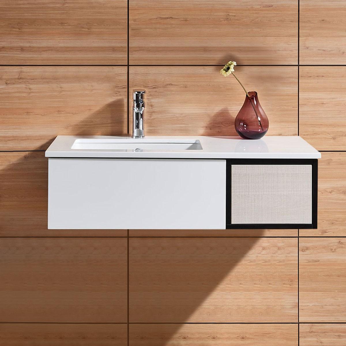 39 In. Wall Mount Bathroom Vanity (DK-676100-V)