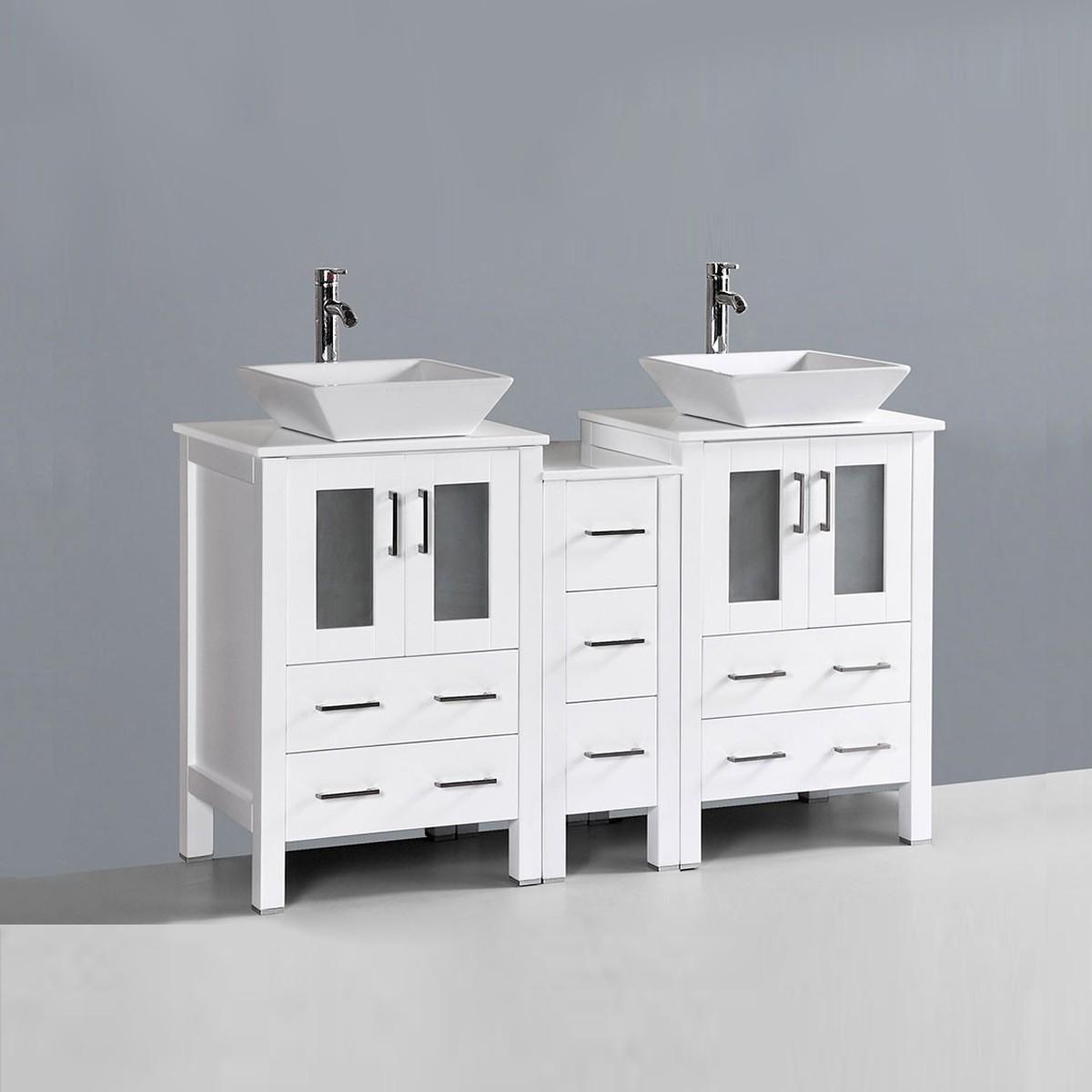 60 In. Freestanding Bathroom Vanity (DK-T9161-60W-V)