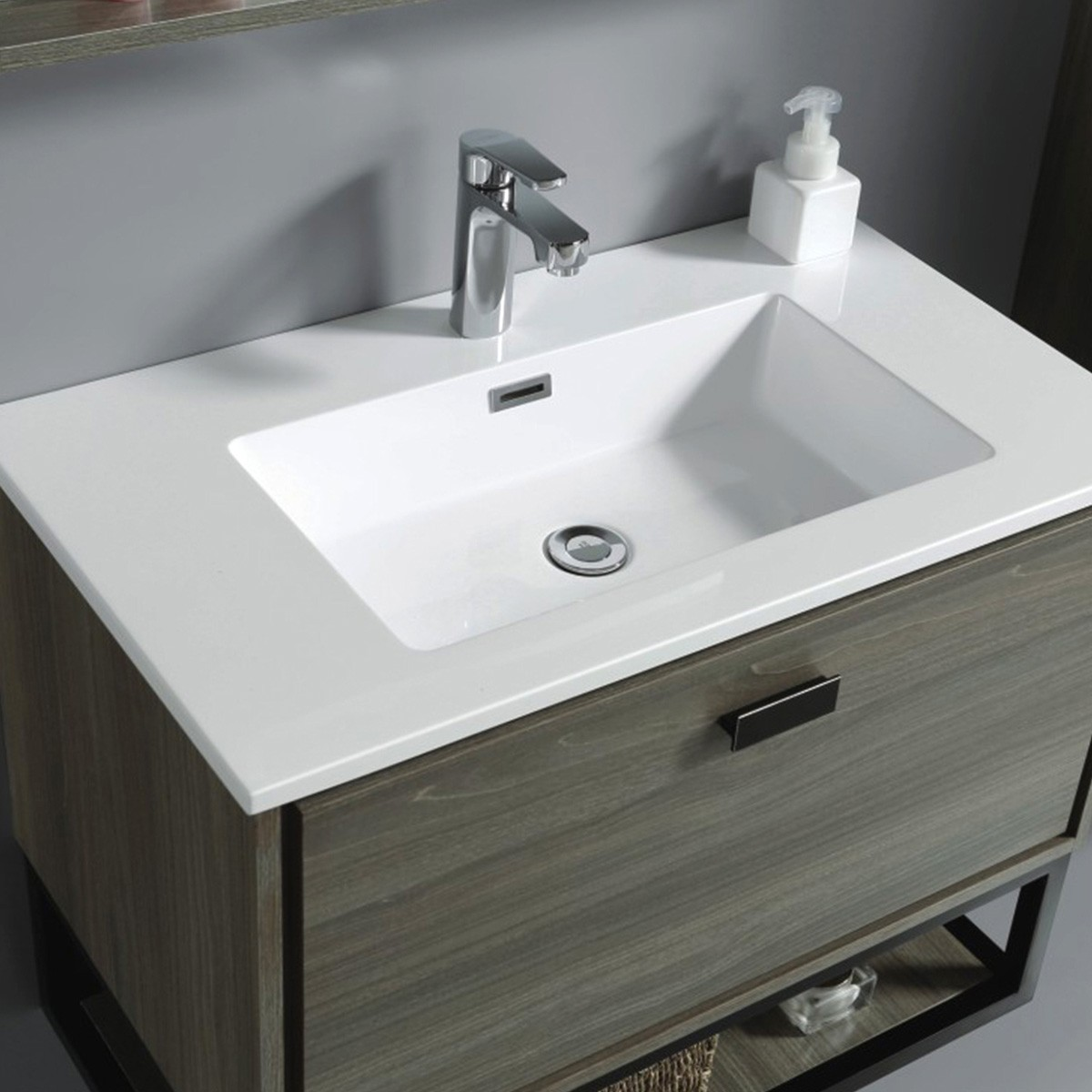 32 In. Wall Mount Vanity with Basin (VSW8001-V)