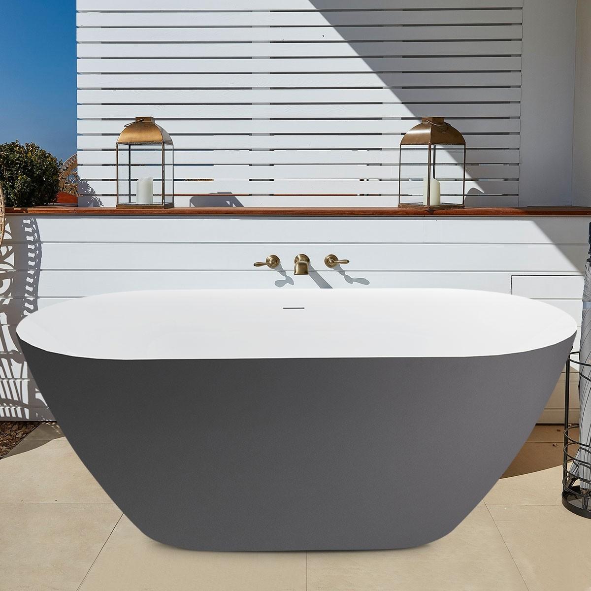67 Inch Acrylic Freestanding Bathtub in 37 Shades of Gray (K123775A)