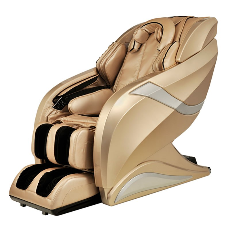 zero gravity heated reclining l track massage chair in champagne