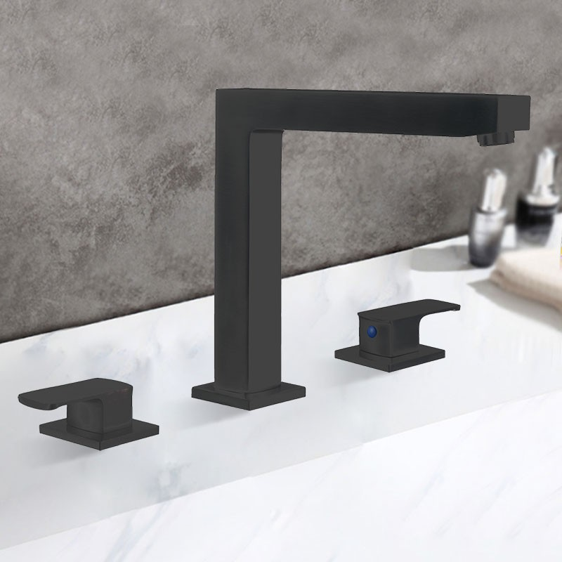 3 Pieces Bathtub Faucet - Brass with Matte Black Finish (83H27-MB-T)