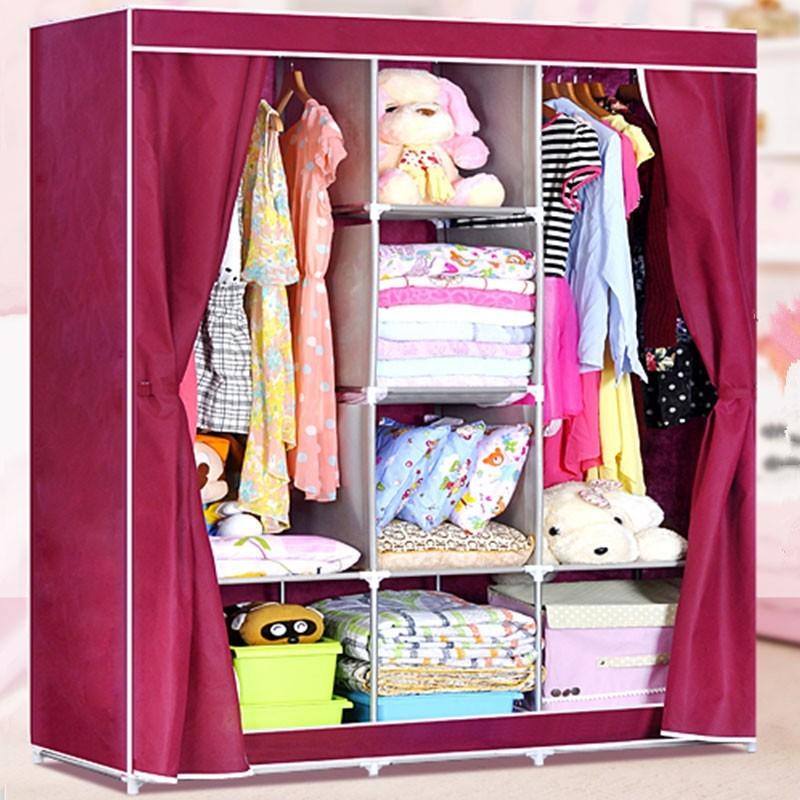Non-woven Fabric Portable Closet with Shelves (DK-WF1611-4)