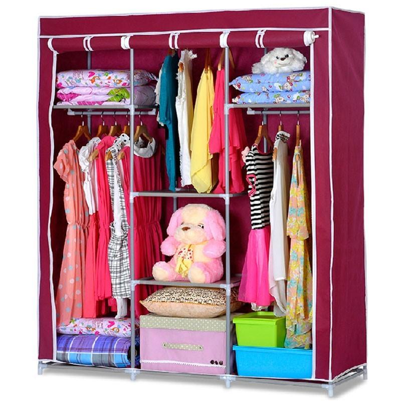 Non-woven Fabric Portable Closet with Shelves (DK-WF1613-3)