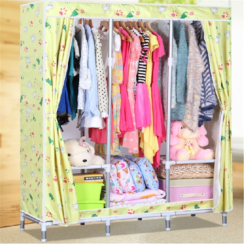 Oxford Fabric Portable Closet with Shelves (DK-WF2502D-2)