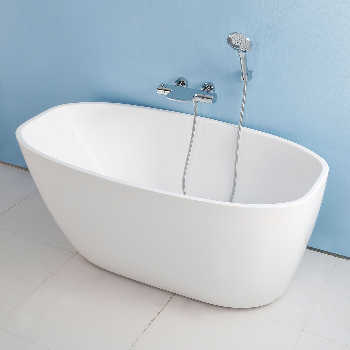 67 In Seamless Acrylic Freestanding Bathtub (DK-AT-15776W)