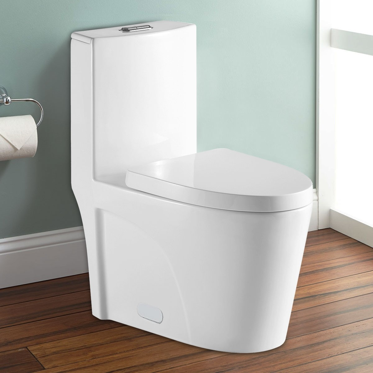 Dual Flush Water Saving Ceramic One-piece Toilet (DK-ZBQ-12011)
