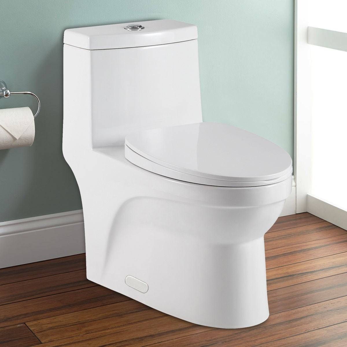 Dual Flush Water Saving Ceramic Elongated Toilet (DK-ZBQ-12050)