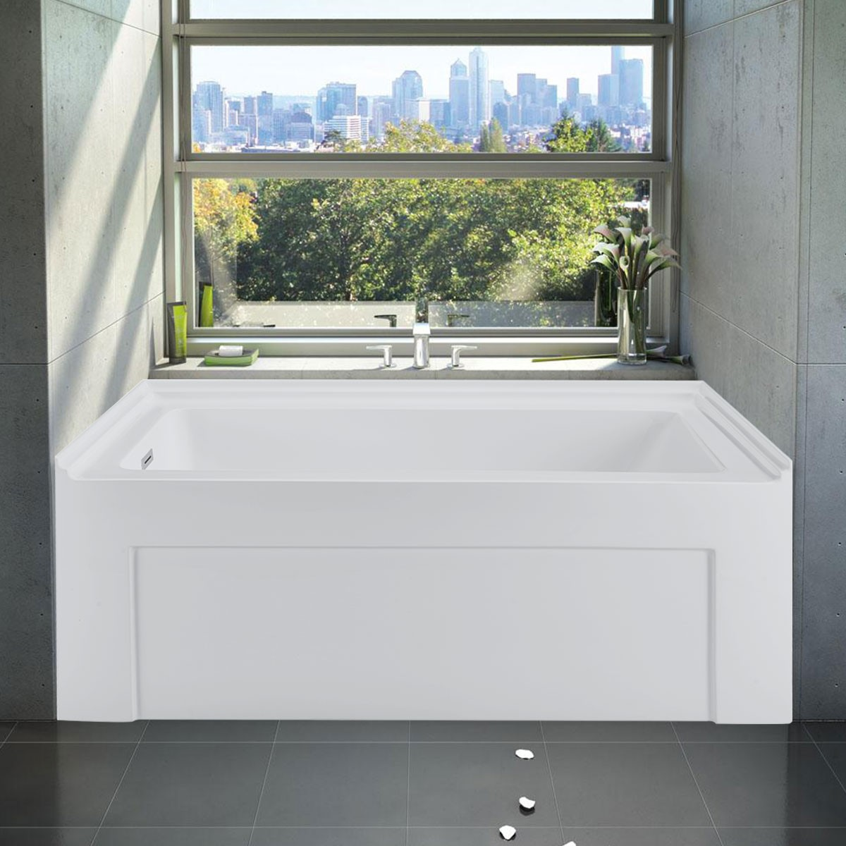 60 In Alcove Bathtub - Acrylic Pure White (DK-PW-BT990003L)