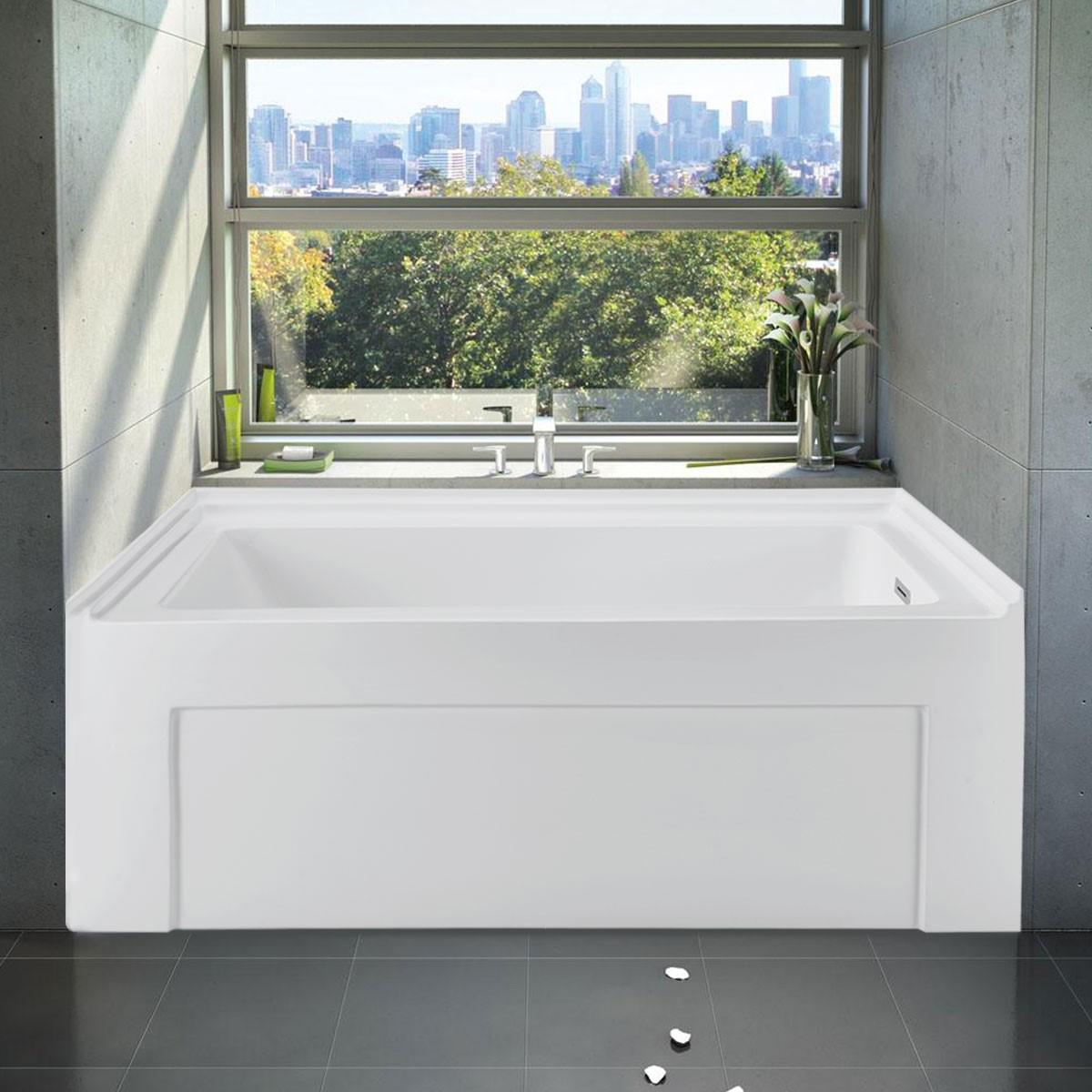 60 In Alcove Bathtub - Acrylic Pure White (DK-PW-BT990003R ...