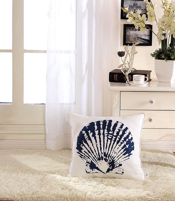 Shell Printed Cotton Cushion Cover (DK-LG001-1)