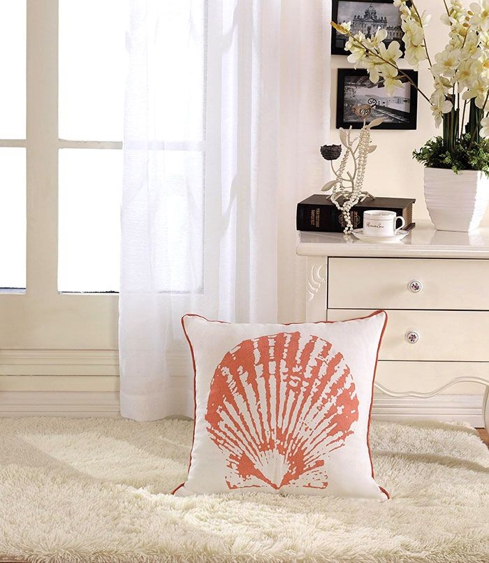 Shell Printed Cotton Cushion Cover (DK-LG001-2)