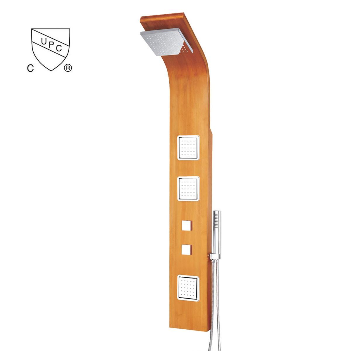 Natural Bamboo Wood Shower Panel System (DK-LYP-9302) | Decoraport ...