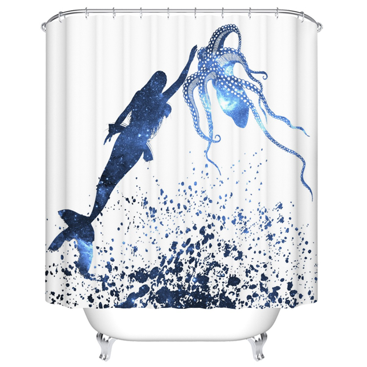 "Fashionable Bathroom Waterproof Shower Curtain, 70"" W x 72"" H (DK-YT017)"