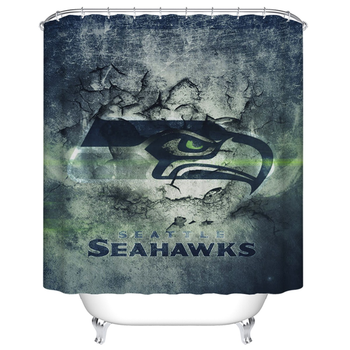 "Fashionable Bathroom Waterproof Shower Curtain, 70"" W x 72"" H (DK-YT019)"