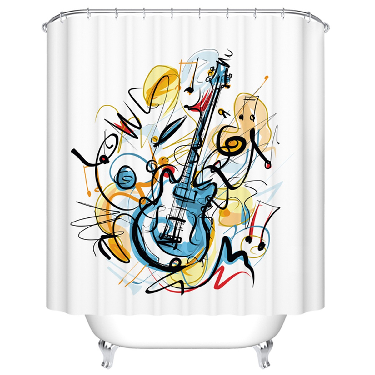 "Fashionable Bathroom Waterproof Shower Curtain, 70"" W x 72"" H (DK-YT027)"