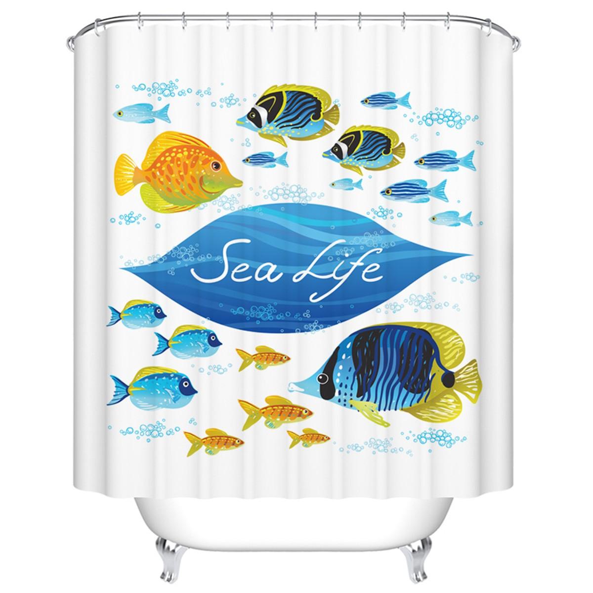 "Fashionable Bathroom Waterproof Shower Curtain, 70"" W x 72"" H (DK-YT028)"