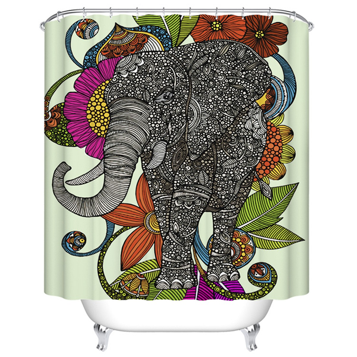 "Fashionable Bathroom Waterproof Shower Curtain, 70"" W x 72"" H (DK-YT034)"