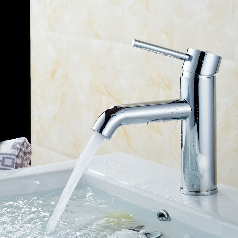 Basin&Sink Faucet - Single Hole Single Lever - Brass with Chrome Finish (81H13-CHR)