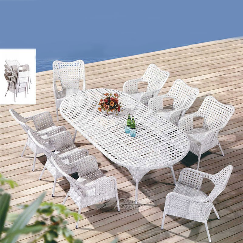 9 Pieces Dining Set: Dining Table, 8 Chairs (JMS-6063)