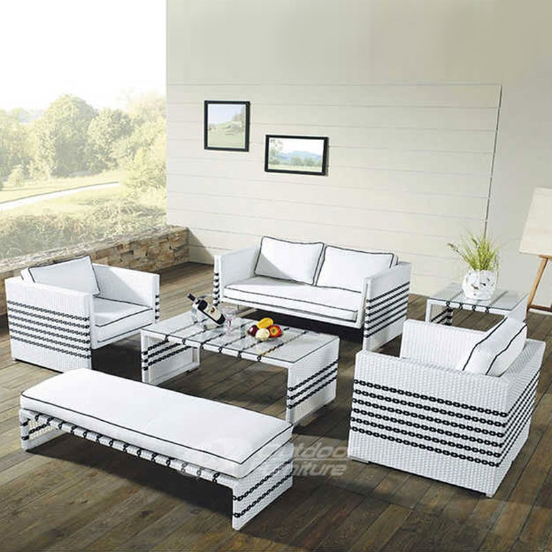 Wicker Patio Seating Set with Cushion (JMS-9660)