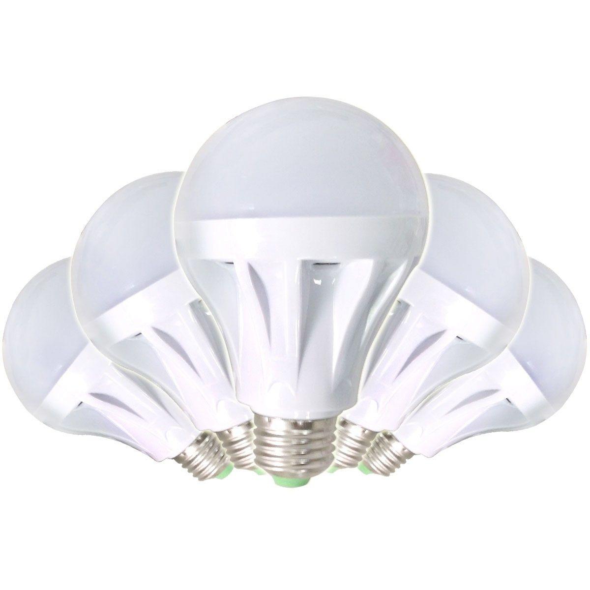 9W LED E26 White Ultra Bright Bulb 5/pack (DK-LED-JCY04)