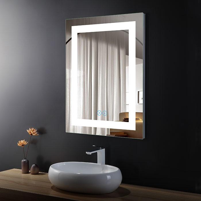 24 x 32 In Vertical LED Bathroom Mirror with Anti-fog Function (DK-OD-CK010-W)