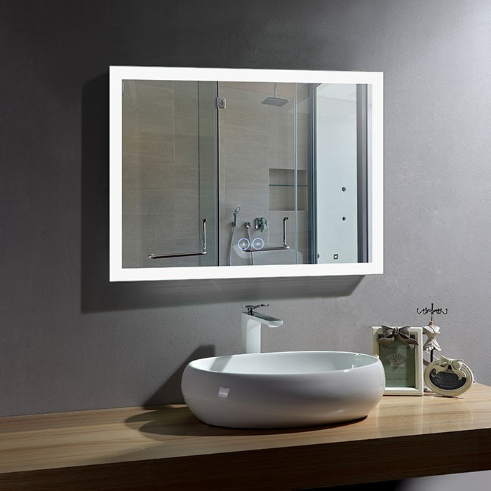 36 x 28 In Horizontal LED Bathroom Mirror with Anti-fog Function (DK-OD-N031-W1)