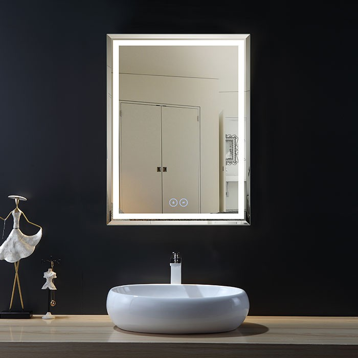 28 x 36 In Vertical LED Bathroom Mirror with Anti-fog Function (DK-OD-C226-W1)
