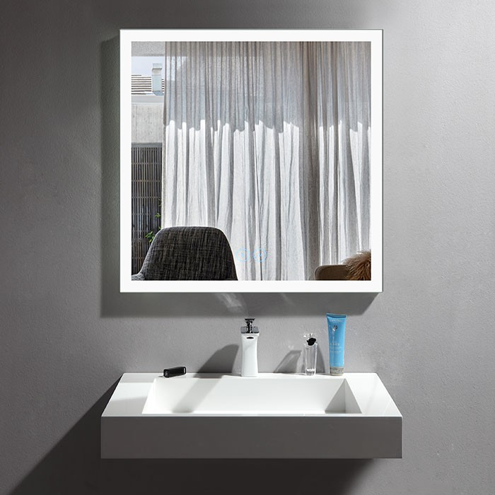 36 X 36 In Vertical Dimmable Led Bathroom Mirror With Anti