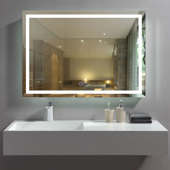 40 X 28 In Horizontal Led Bathroom Mirror With Anti Fog