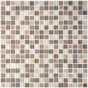 12 in. x 12 in. Glass/Stone Blend Mosaic Tile - 8mm Thickness (DK-AD801041)