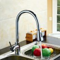 Brushed Nickel Finished Brass Kitchen Faucet - Pull Out Spray Head (82H11-BN)