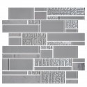 13.2 in. x 11.8 in. Glass and Stone Blend Strip Mosaic Tile - 8mm Thickness (DK-AD808099)