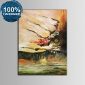 100% Hand Painted Abstract Oil Painting on Canvas (DK-JX-YH09)