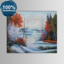 100% Hand Painted Abstract Landscape Oil Painting on Canvas (DK-JX-YH059)