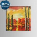 100% Hand Painted Abstract Landscape Oil Painting on Canvas (DK-JX-YH057)