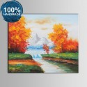 100% Hand Painted Abstract Landscape Oil Painting on Canvas (DK-JX-YH050)