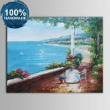 100% Hand Painted Abstract Mediterranean Landscape Oil Painting on Canvas (DK-JX-YH036)