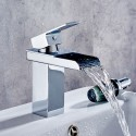 Basin&Sink Waterfall Faucet - Brass with Chrome Finish (81H39-CHR)