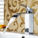 Basin&Sink Waterfall Faucet - Brass with Chrome Finish (81H36-CHR-S)