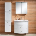 31 In. Wall Mount Bathroom Vanity Set with Mirror Cabinet and Side Cabinet (DK-677800)