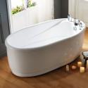 59 In White Acrylic Freestanding Bathtub (DK-Q132A)