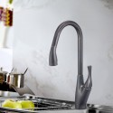 Black Bronze Finished Brass Kitchen Faucet - Pull Out Spray Head (82H24-ORB-A)