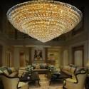 36-Light Large Gold Crystal Ceiling Light (HY02SJD029A)
