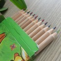 Colored Pencil with Four Colors Mixed Lead, Round Barrel, 3.0mm, 12/pack (DK-PP022)
