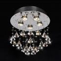 5-Light Round Crystal Ceiling Light (DK-SS002)