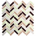 12 in. x 12 in. Electroplated Glass Mosaic Tile - 8mm Thickness (DK-MG15YG48C)